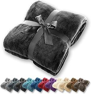 comprar comparacion Manta Gräfenstayn® - Muchos tamaños y colores diferentes - Manta de microfibra Manta para sala de estar Manta para cama - ...