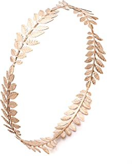 WSSROGY 2 PCS Crown Laurel Wreath Gold Leaf Headband Costume Party Accessory Caesar Circlet