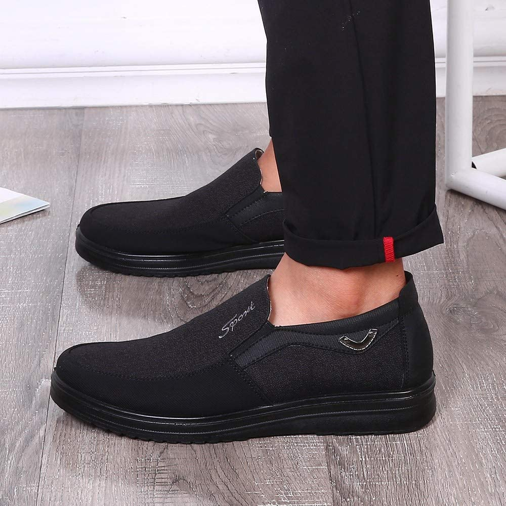 Mens Business Shoes Dress, Slip-On Loafers Leather Oxford Wedding Classic Comfortable Leather Shoes Uniform Vintage Office Summer Brogue Suit Jacket Black,a