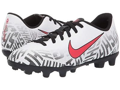 Nike Kids Neymar Jr. Vapor 12 Club FG Soccer (Little Kid/Big Kid) (White/Challenge Red/Black) Kids Shoes