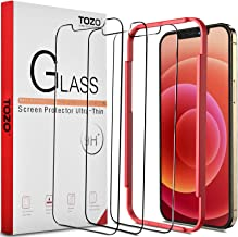 TOZO Compatible for iPhone 12 and Compatible for iPhone 12 Pro Screen Protector 3 Pack Premium Tempered Glass 0.26mm 9H Hardness 2.5D Film Easy install 6.1 inch