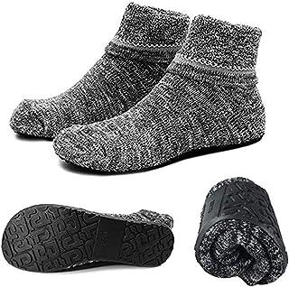 Calcetines antideslizantes de algodón al tobillo con suela impermeable de goma, ideal como regalo