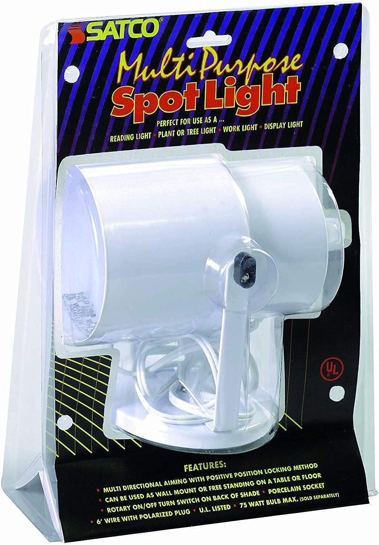 Satco Products Multi-Purpose Portable Spot Light, White - 2 Pack