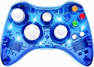 PAWHITS Wireless Xbox 360 Controller Double Motor Vibration Wireless Gamepad Gaming Joypad, Blue