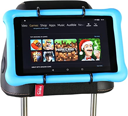 Hikig Car Headrest Mount Holder for Kids All Kindle Fire - Kindle Fire HD 6 / HD 7 / HD X7 / HD X9 / HD 6 (2014) / HD 7 (2014) / HD 6 (Kid Edition) / HD 7 (Kid Edition) / New Fire 7 / HD 8 / HD 10