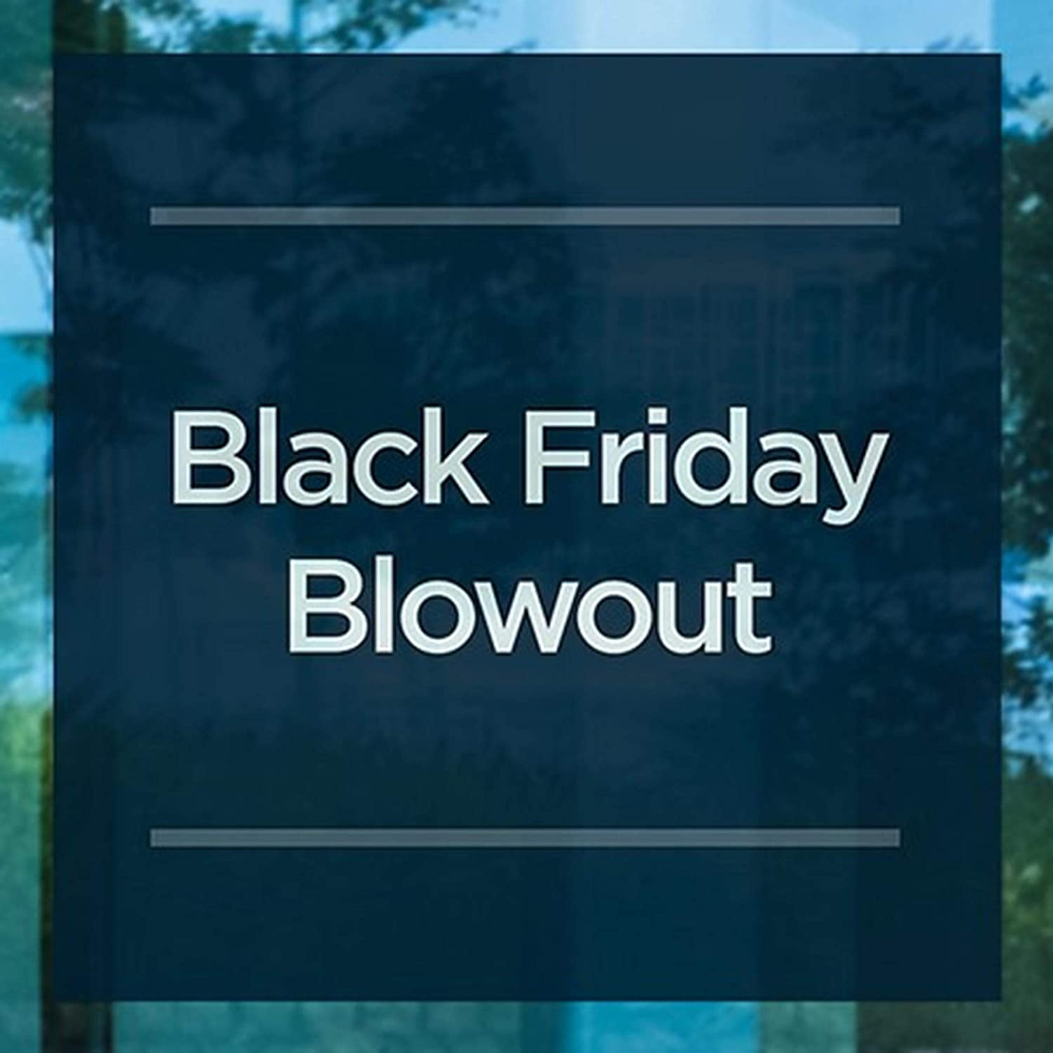 Black Friday Blowout 24x24 CGSignLab Basic Navy Clear Window Cling 5-Pack