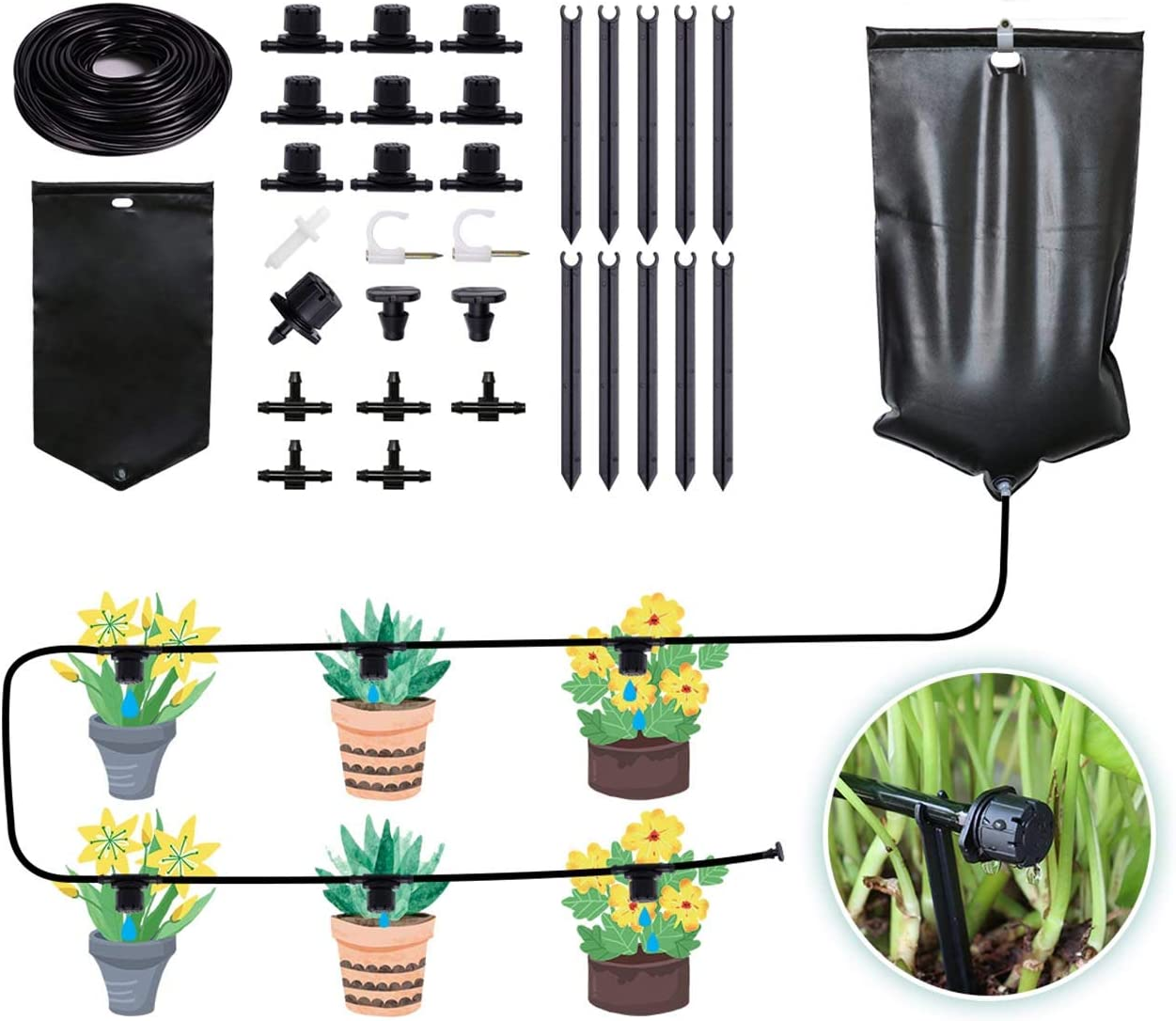 Drip Irrigation System Automatic Max 52% Max 74% OFF OFF Watering wi Tree Garden