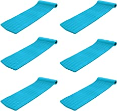 product image for Texas Recreation Serenity 70 in. Foam Mat Raft Lounger Pool Float, Teal (6 Pack)