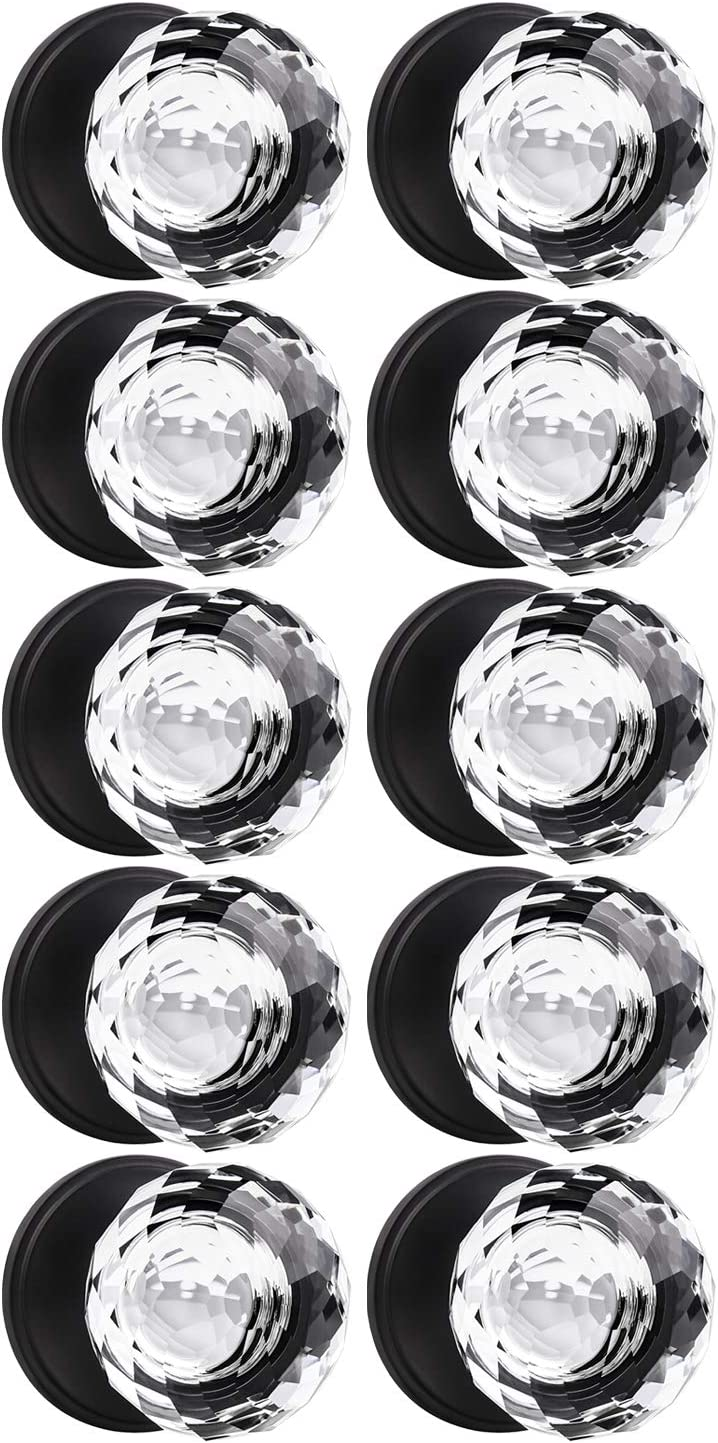 KNOBWELL 10 Pack Single Sided San Diego Mall Crystal Style New Free Shipping Dummy Door Knobs Ri