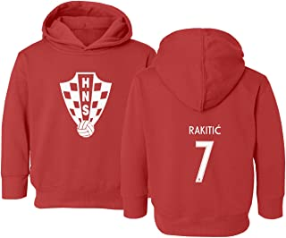 Tcamp Croatia 2018 National Soccer #7 Ivan RAKITIC World Championship Little Kids Girls Boys Toddler Hooded Sweatshirt