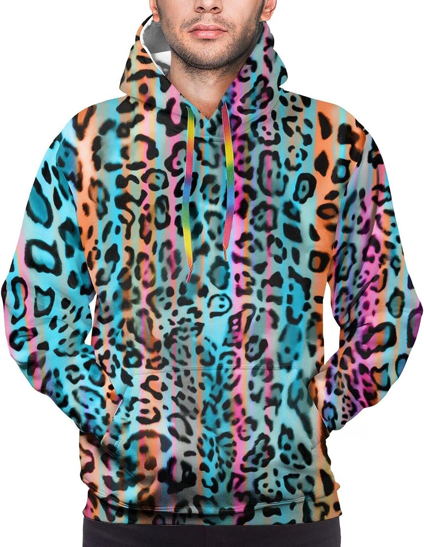 Hoodie For Men Women Unisex Leopard Print Double-Sided 3d Sweatshirt Hoodie