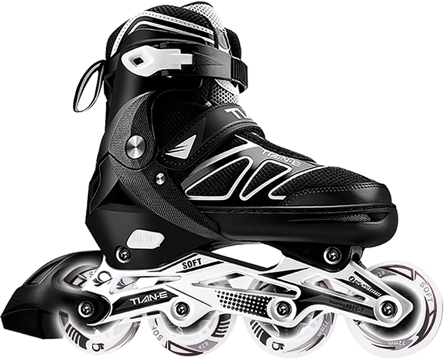 Adjustable Roller Blades Skates Tucson Mall Deluxe for Outdoor Kids Indoor Adults