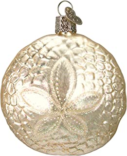 Old World Christmas Ornaments: Sand Dollar Glass Blown Ornaments for Christmas Tree