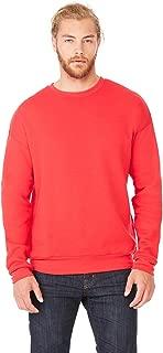 Bella + Canvas Unisex Drop Shoulder Fleece - White - L - (Style # 3945 - Original Label)