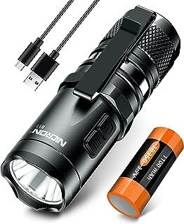 Flashlight,950 High Lumens Led Flashlight NICRON B11 Super Bright Tactical USB Rechargeable Flashlights,Water Resistant IP...