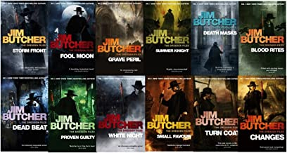 Jim Butcher the Dresden Files Series Set (Book 1-12): Storm Front, Full Moon, Grave Peril, Summer Knight, Death Masks, Blood Rites, Dead Beat, Proven Guilty, White Night, Small Favor, Turn Coat, Changes,