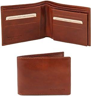 Tuscany Leather Esclusivo portafoglio uomo in pelle 3 ante Marrone