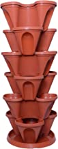 Gardens Need Plastic Stack-A-Pot for Floor Set (Terracotta, 7-Pieces)