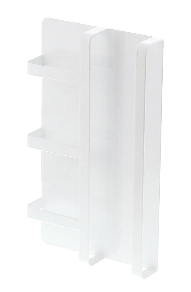 信頼できる幸運なことに責め【山崎実業】 マグネット冷蔵庫サイドレシピラック タワー ホワイト 3501
