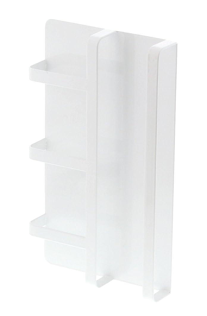 次はっきりしない手術【山崎実業】 マグネット冷蔵庫サイドレシピラック タワー ホワイト 3501