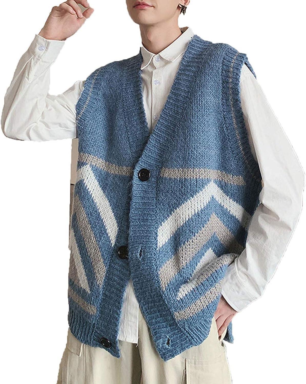 Loose Sweater Handsome Cardigan Sleeveless Loose Coat Woolen Sweaters Vest
