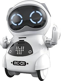 Haite Mini Robot، Robot Pocket برای کودکان با مکالمه گفتگوی تعاملی ، تشخیص صدا ، ضبط چت ، آواز و رقص ، سفید