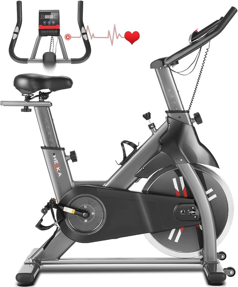 heka cyclette bici da spinning schermo lcd