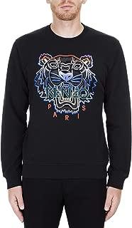 Kenzo Men's Gradient Black Sweatshirt with Multicolor Front Tiger