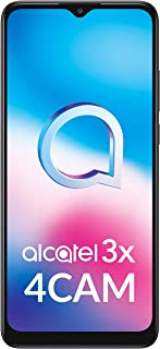 Alcatel 3X (2020) Dual-SIM 64GB ROM + 4GB RAM (GSM Only | No CDMA) Factory Unlocked 4G/LTE Smartphone (Black) - Internatio...