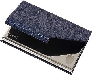 [Roffal] 名刺入れ メンズ 名刺ケース 5色 化粧箱 仕切りカード 専用クロス 名刺が折れない