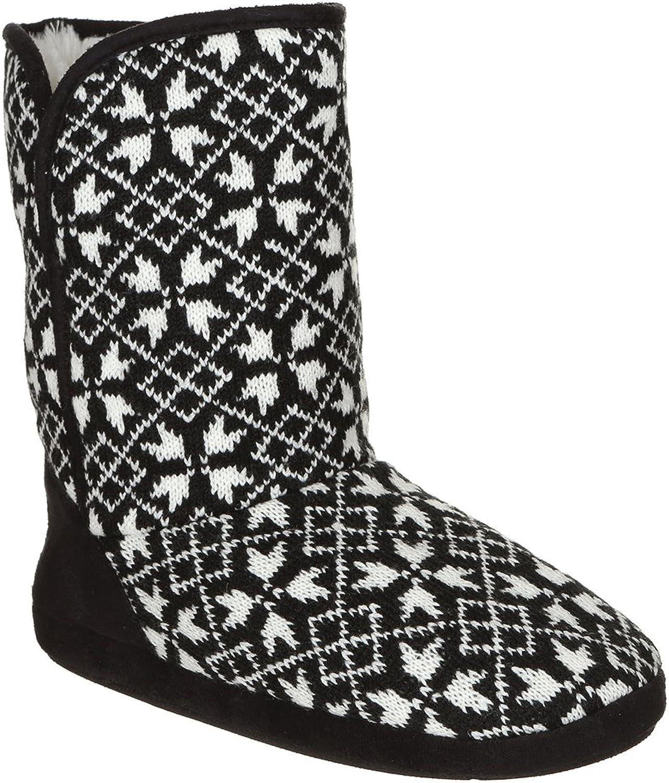 Capelli New York Ladies Woven Knit Slipper Boot
