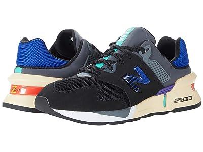 New Balance Classics 997 Sport (Black/Dazzling Blue) Men
