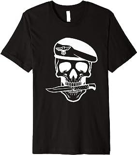 Army Soldier Skull Knife Tattoo Veteran Premium T-Shirt