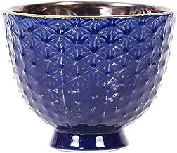 Little Green House Round Ceramic Vase, Blue