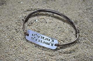 Coordinate Bracelet, Latitude Longitude Bracelet, Mens Bracelet, Couples Bracelet, 1 year anniversary gift for boyfriend, Boyfriend Gift