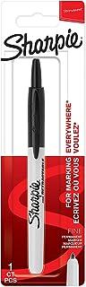 Sharpie Retractable Permanent Marker | Fine Point | Black | 1 Count