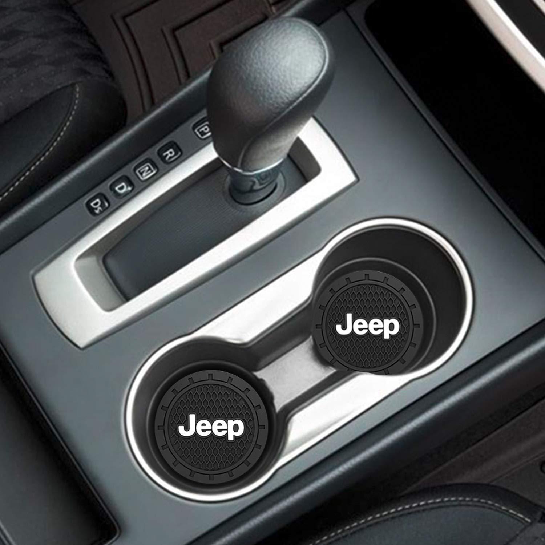 YOJOHUA 2.75 Inch Vehicle Travel Car Interior Accessories for Chrysler 2 PCS Cup Holder Coaster Auto Interior Decoration Pad