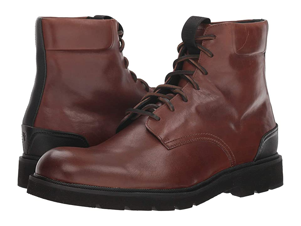 Frye Terra Lace-Up (Cognac Smooth Full Grain) Men's Lace-up Boots