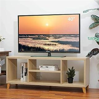 Lwieui Mesas para TV Consola portátil de gabinete de TV Desmontable con 4 Pisos Abiertos para Sala de Estar (Color : Wood,...