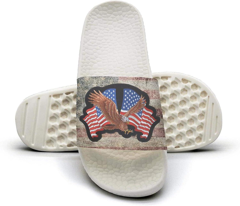 Women's Classic Comfort Subdued-American-Flag-Shocker-Hand- Slides Shoes,Athletic Slide Sandals