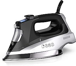 BLACK+DECKER Allure Digital Professional Steam Iron, Full Size, Black/Silver