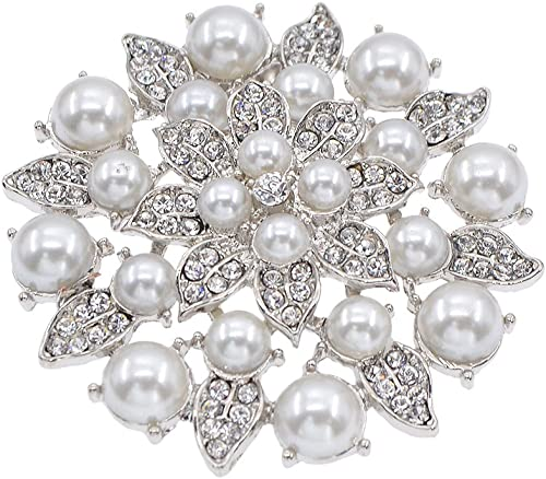 YNuth Chaussure Clip Faux Perles Strass