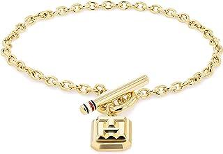 TOMMY HILFIGER WOMEN'S GOLD LOGO CHARM BRACELET - 2780436