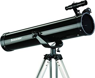 Celestron - PowerSeeker 76AZ Telescope - Manual Altazimuth Mount - Telescopes for Beginners - Includes 3x Barlow Lens for ...