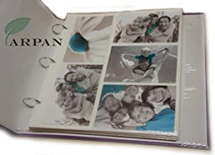 Arpan 20 Refill Photo Album Sheet Holds 6x4'' 200 Photos For Large Ringbinder Photo Album by ARPAN