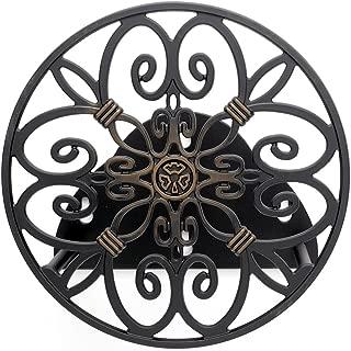 Liberty Garden 670 Wall Mounted Decorative Hose Butler, Holds 125-Feet of, 5/8-Inch, Bronze