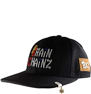 BrainChainz Hip Hop Jewelry on Hats for Men Baseball Cap Gold Chain Cuban Link Pendant Iced Out Mens Bling (Assorted Styles)