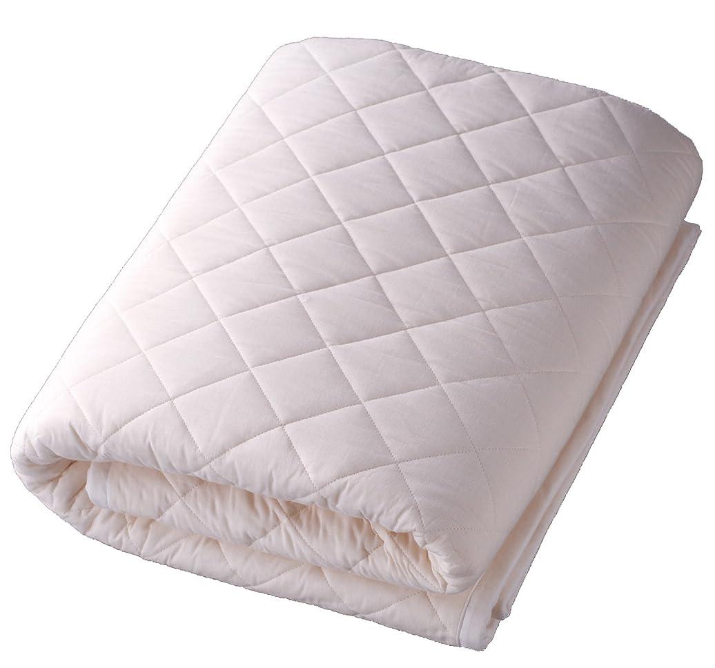 アブストラクト想像力心配パシーマのサニセーフ 夏は涼しく冬あったかガーゼと脱脂綿でできたパットシーツ シングルワイドロング 約110×210cm きなり 580117