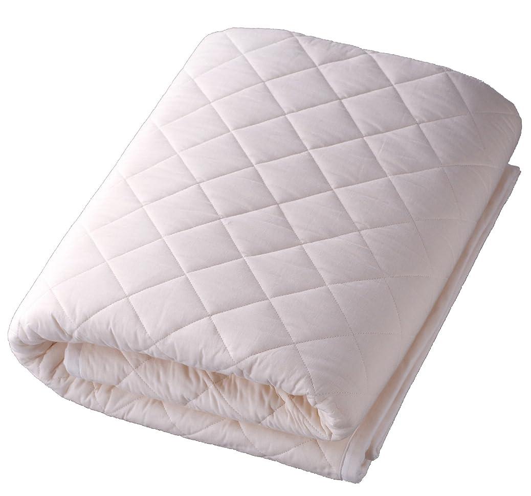 軽くみなさん面パシーマのサニセーフ 夏は涼しく冬あったかガーゼと脱脂綿でできたパットシーツ シングルワイドロング 約110×210cm きなり 580117