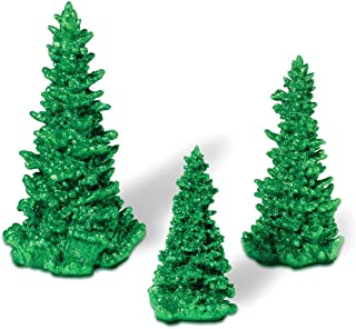 Department 56 Accessories for Villages Green Glittered Tree Set, 10 inch